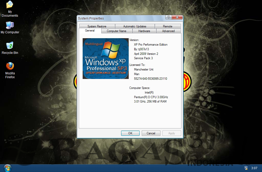 Windows Xp Pro SP3 Manchester United Edition 3
