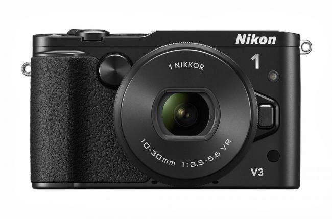 Parte frontal de la cámara Nikon 1 V3