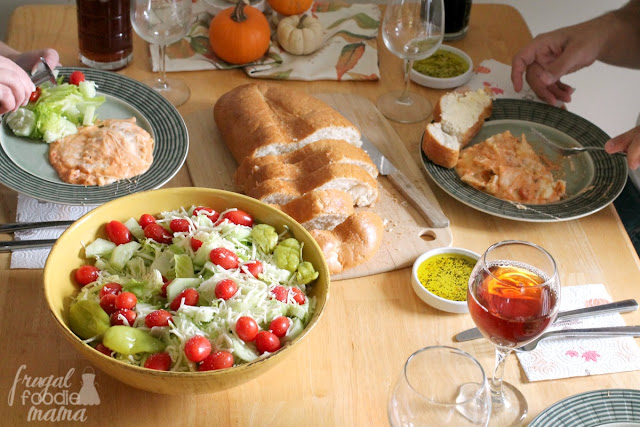 Host a simple & fuss free Tuscan Inspired Sunday Dinner at home with my quick and easy tips. #BertolliDinnerParty #spon