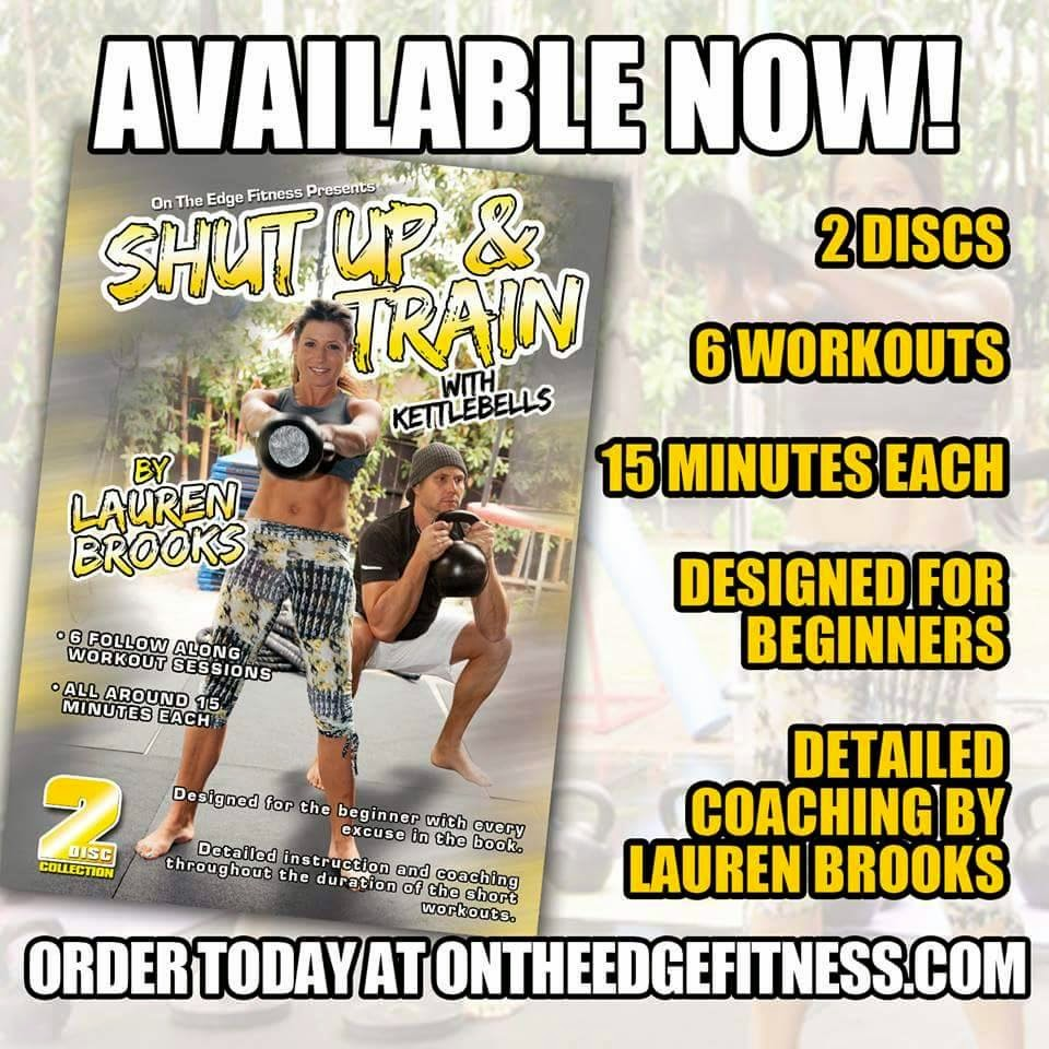 Shut Up & Train w/ Kettlebells  Pre-order SALE 40% OFF Ending soon. Code: 40off ON ALL DVDS!