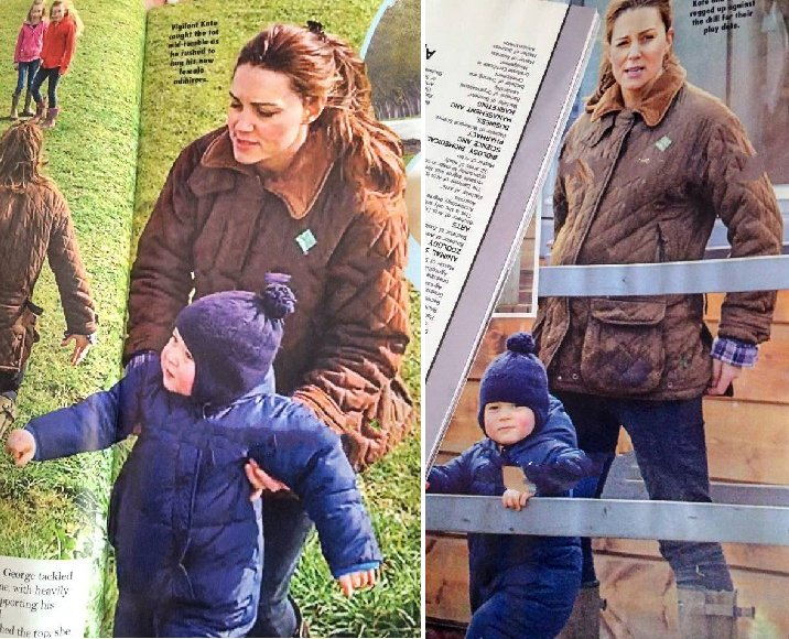 Catherine Duchess Of Cambridge And Prince George Visiting