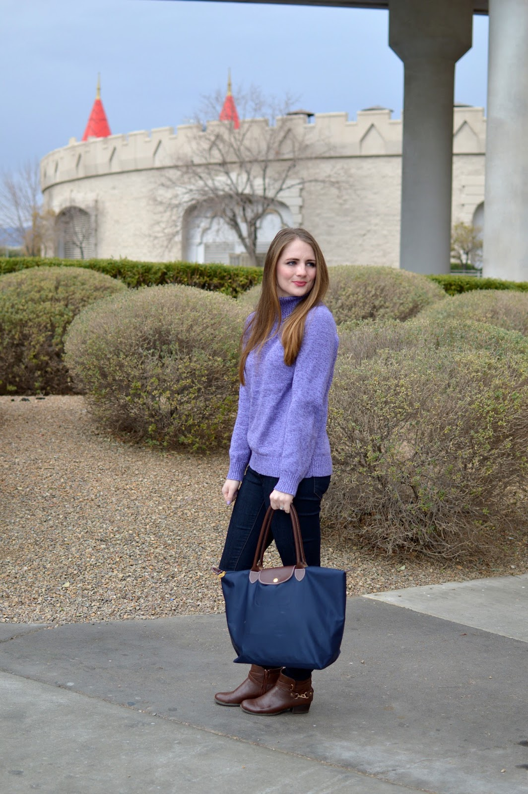 A Memory Of Us: purple turtleneck sweater | A Kansas City Fashion Blog