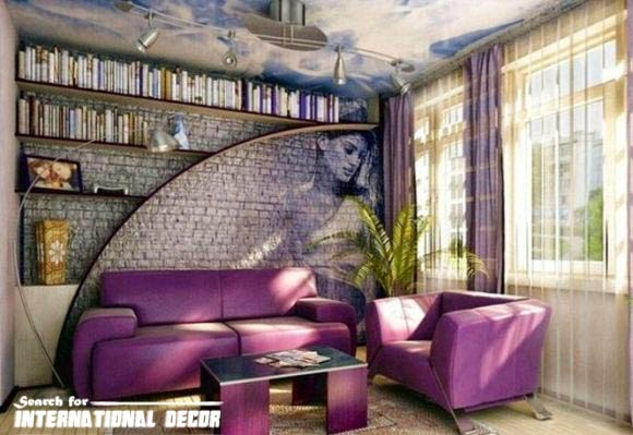 decorative stone wall for living room interior