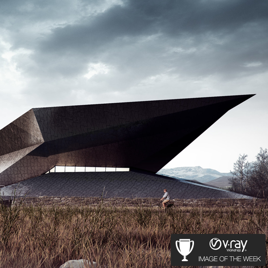 Vray workshop image of the week pasca putra for Festival hall in erl