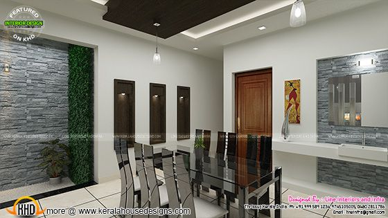 Beautiful dining wit courtyard interior
