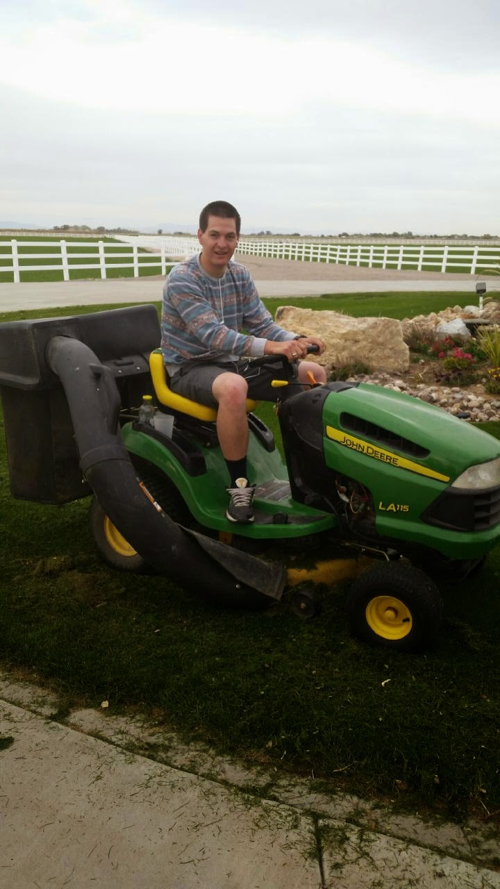 Jace on his John Deer