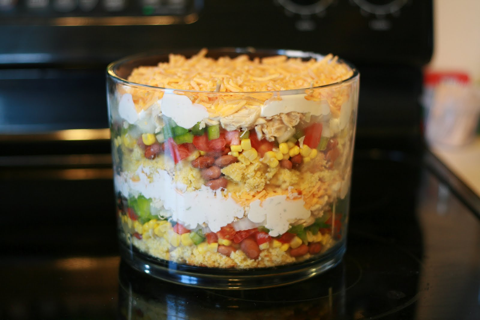 Oh The Places Youll Go Super Yum Mexican Trifle Bowl Salad