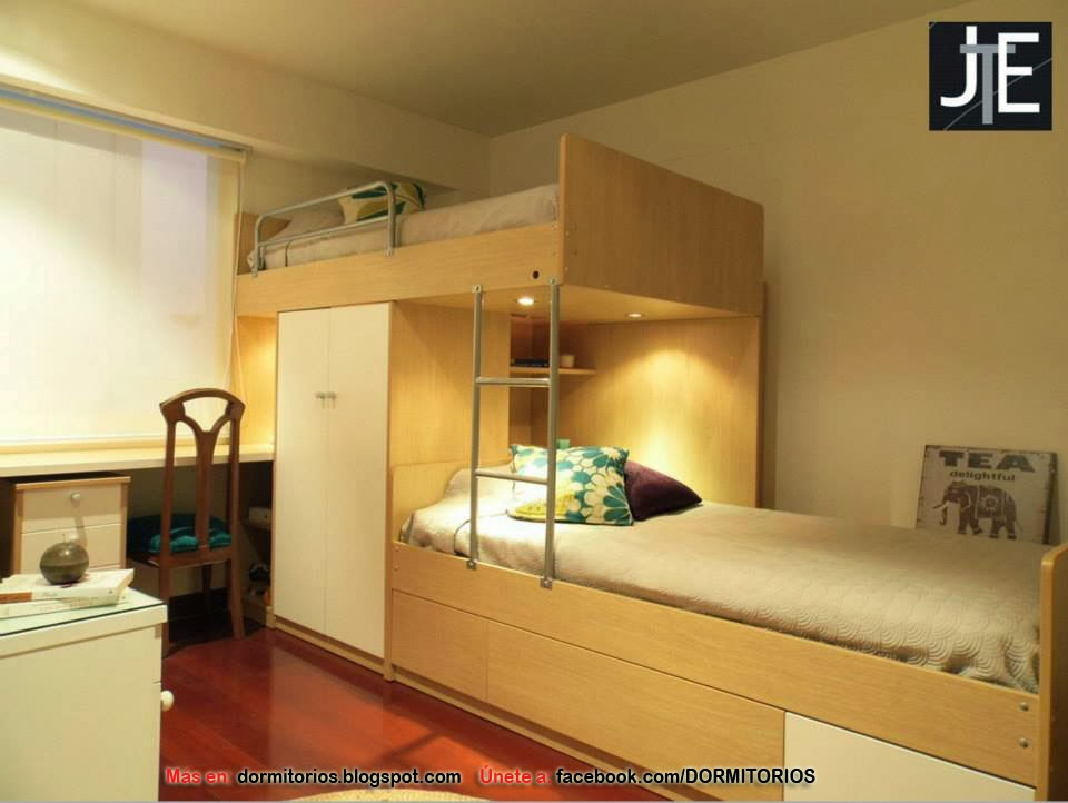 Dormitorio para adolescentes for Dormitorio 6m2