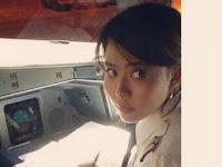 Pilot Cantik Asal Indonesia Terbangkan Pesawat Jumbo