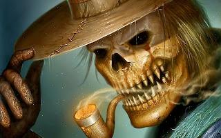 Esqueleto de fumar