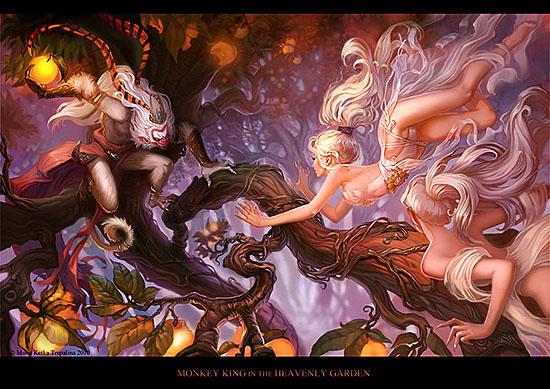Maria Ketka Trepalina - http://www.deviantart.com/art/Monkey-King-184200217