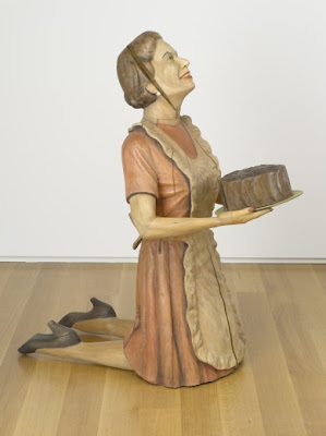 Cake Lady - Bob Trotman; 2002; Wood, tempera; private collection; Photo courtesy of the North Carolina Museum of Art