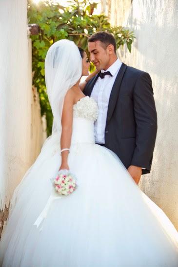 Bride and Groom in wedding attire