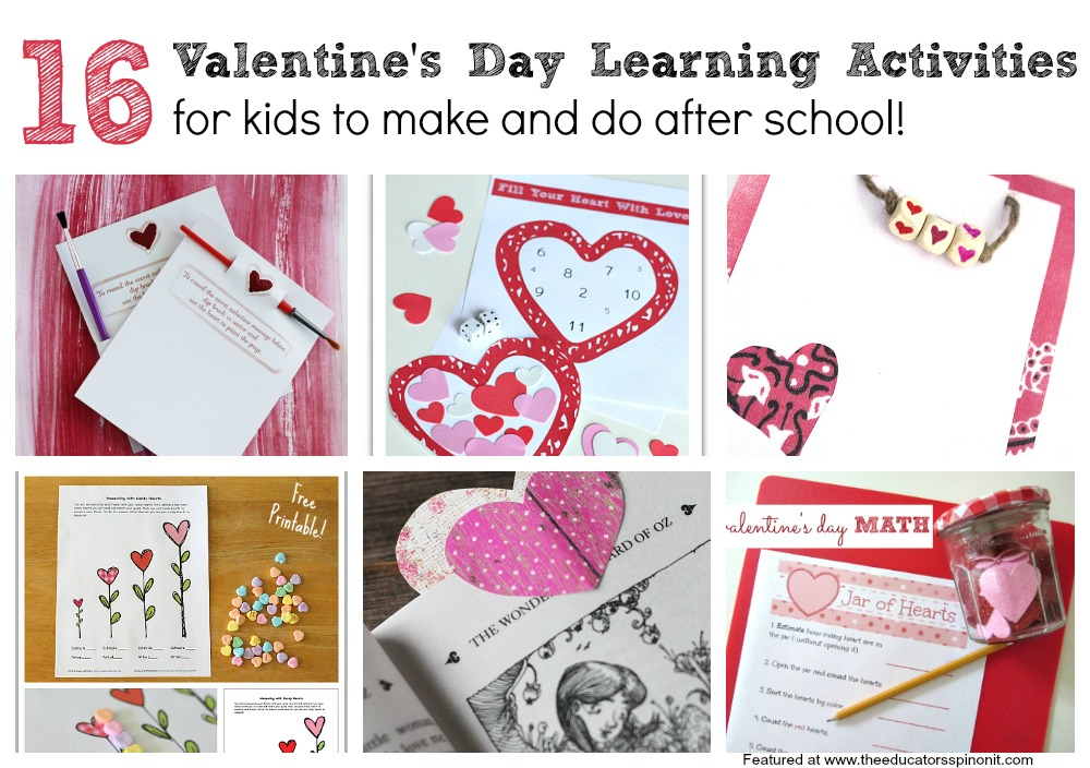 valentine learning activities for grade school kids