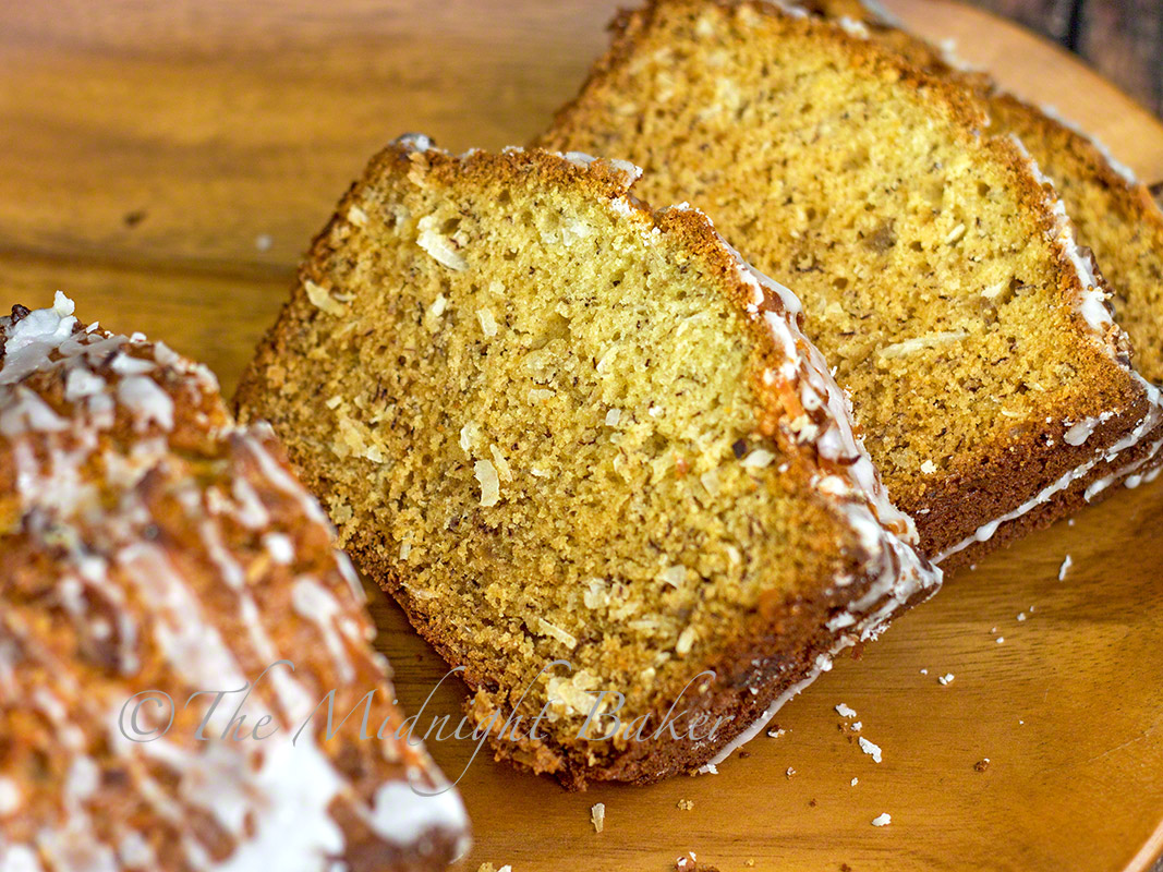 Jamaican Banana Rum Bread - The Midnight Baker