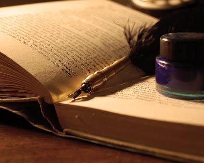 Libro, pluma, tinta, escribir, ejercicio, escritura creativa