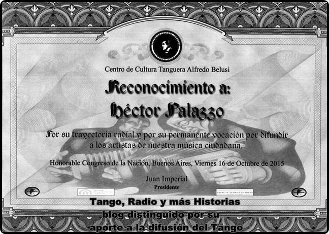 Distinción del Centro de Cultura Tanguera Alfredo Belussi