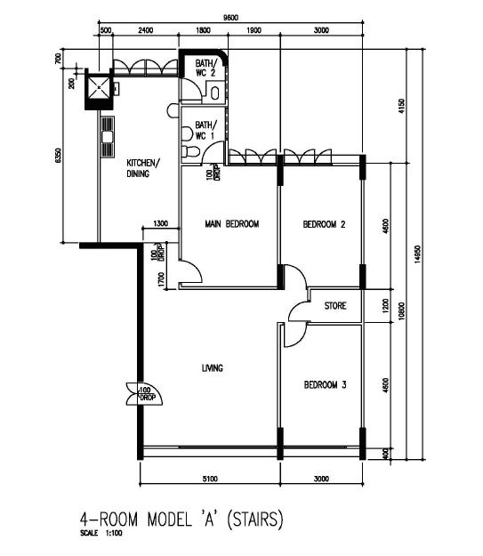 My hdb 4 room 4a floor plan for Plan my room