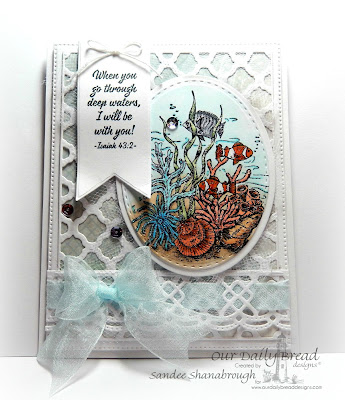 Our Daily Bread Designs Stamp set: Deep Waters, Our Daily Bread Designs Custom Dies: Boho Background, Beautiful Borders, Ovals, Stitched Ovals, Pennant, Flourished Star Pattern, Our Daily Bread Designs Shabby Rose Paper Collection