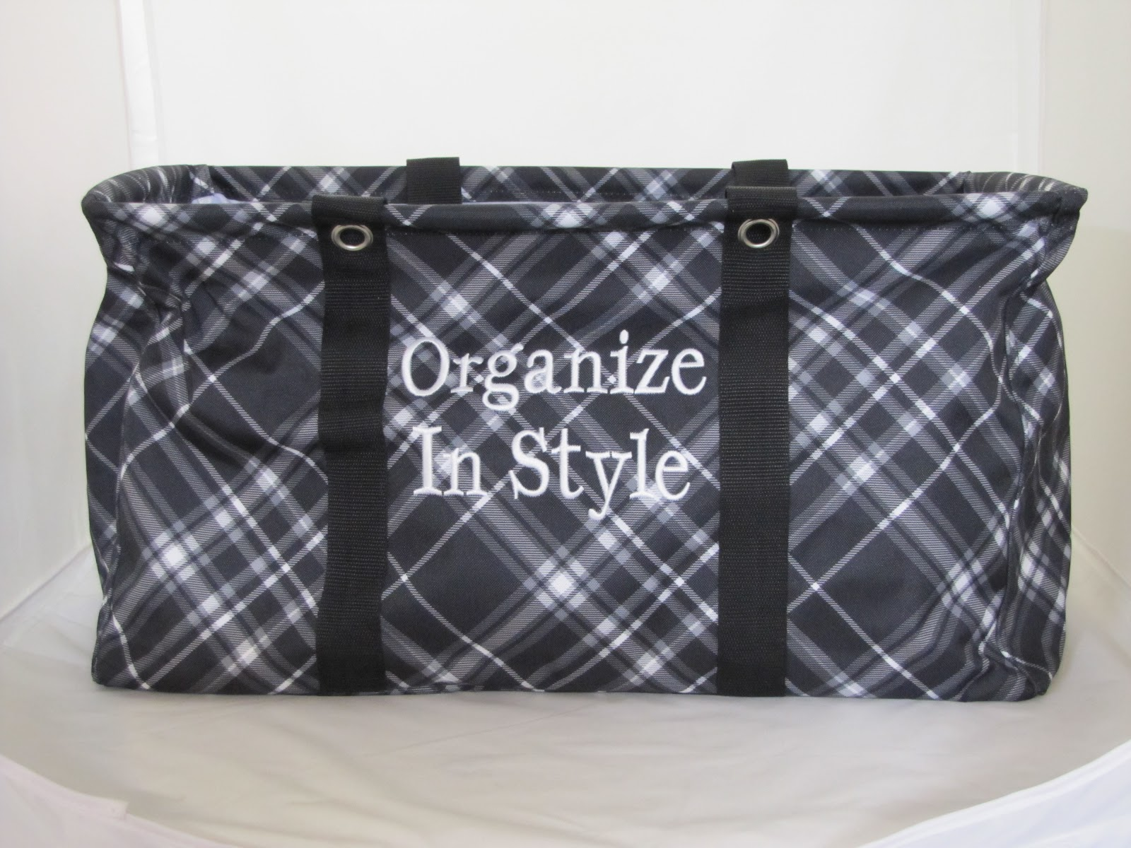 Organizing Shoulder Bag Black Pick Me Plaid 89