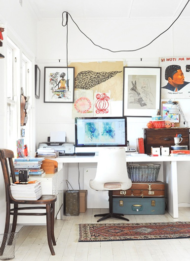 Belle maison interior styling wednesdays the home office for Office design blogs