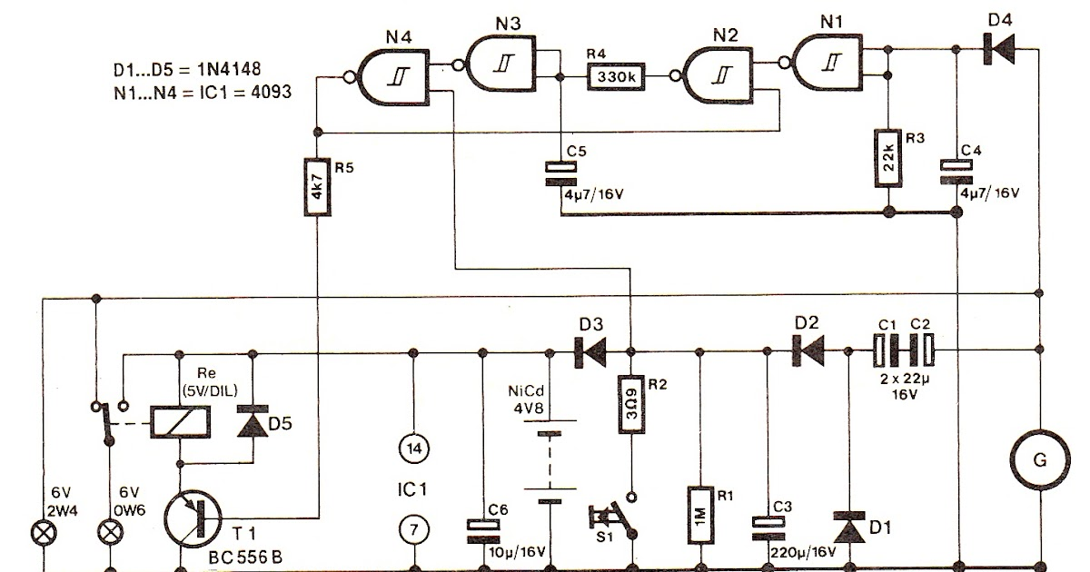 Schematic Diagram  Bicycle Turn Signal Flasher Circuit Diagram