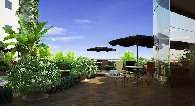 quán cafe chung cư the garden hill