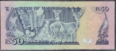Mauritius 50 Rupees 1986 P# 37b