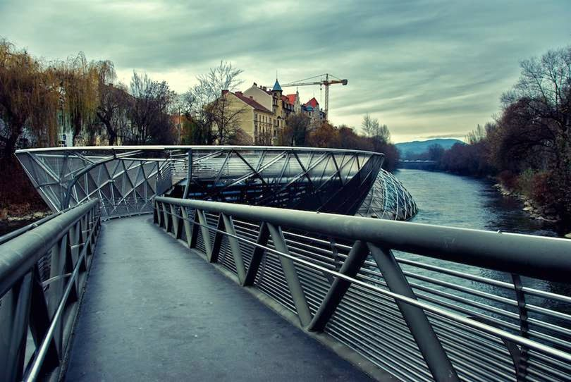 Murinsel River Bridge |  Austria