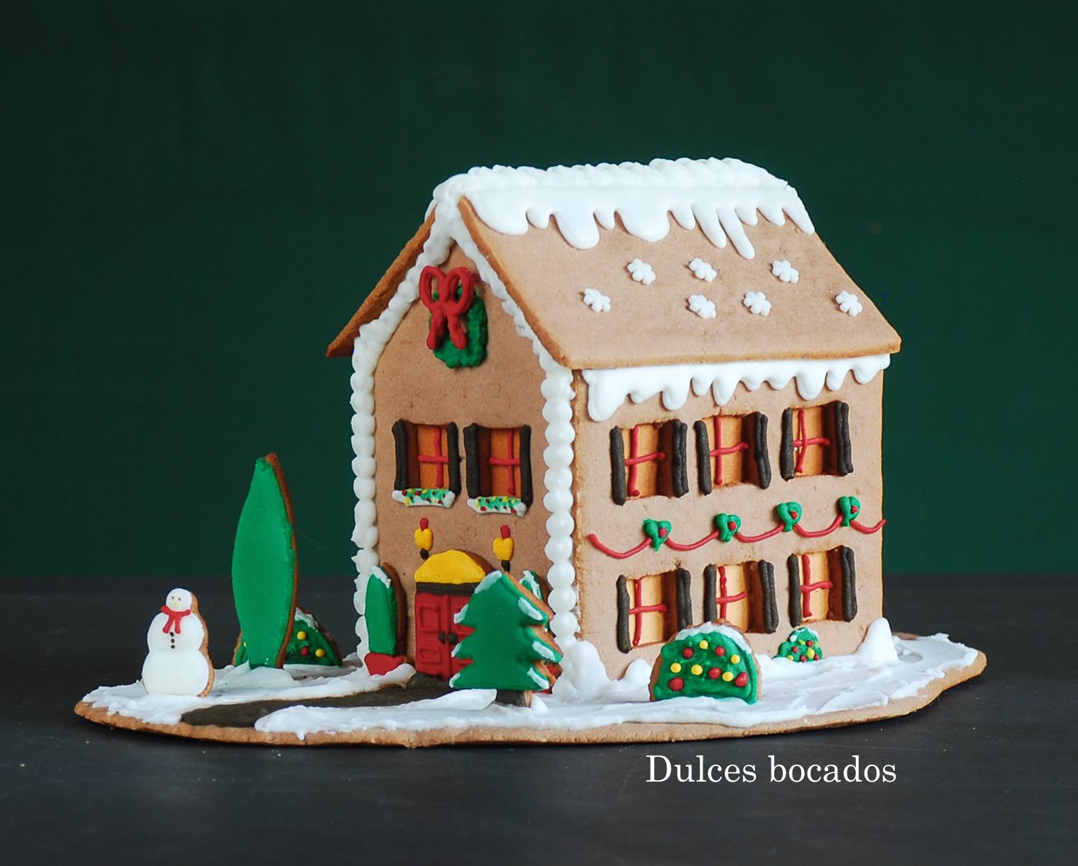 gingerbread house casita jengibre dulces bocados