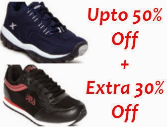 Myntra: Buy G sports, Sparx, Fila sports Men's Sports Shoes Upto 50% off + Extra 30% 0ff