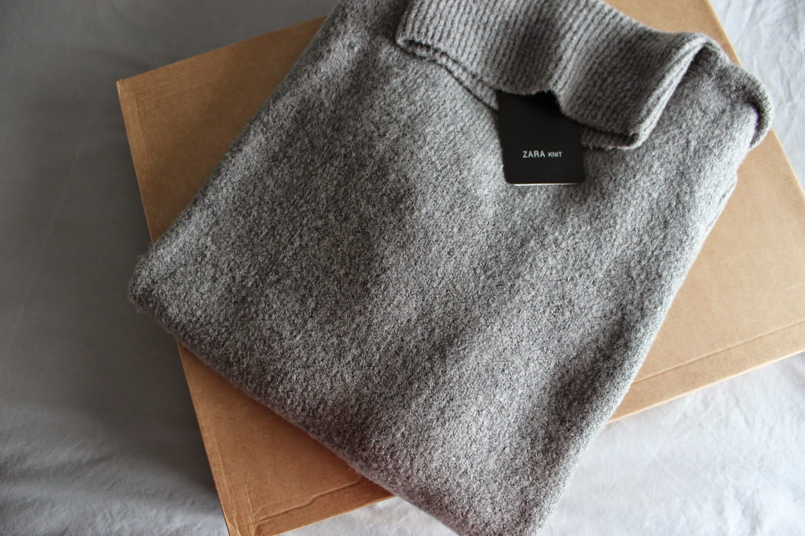 Zara High Neck Sweater Biscuit 71