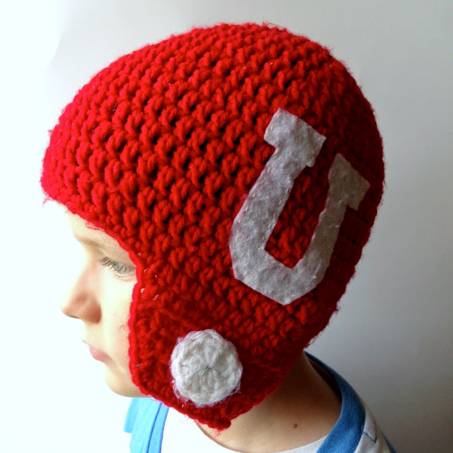 Free crochet pattern football helmet hat manet for 5 little monsters crocheted football helmet hats free bankloansurffo Choice Image