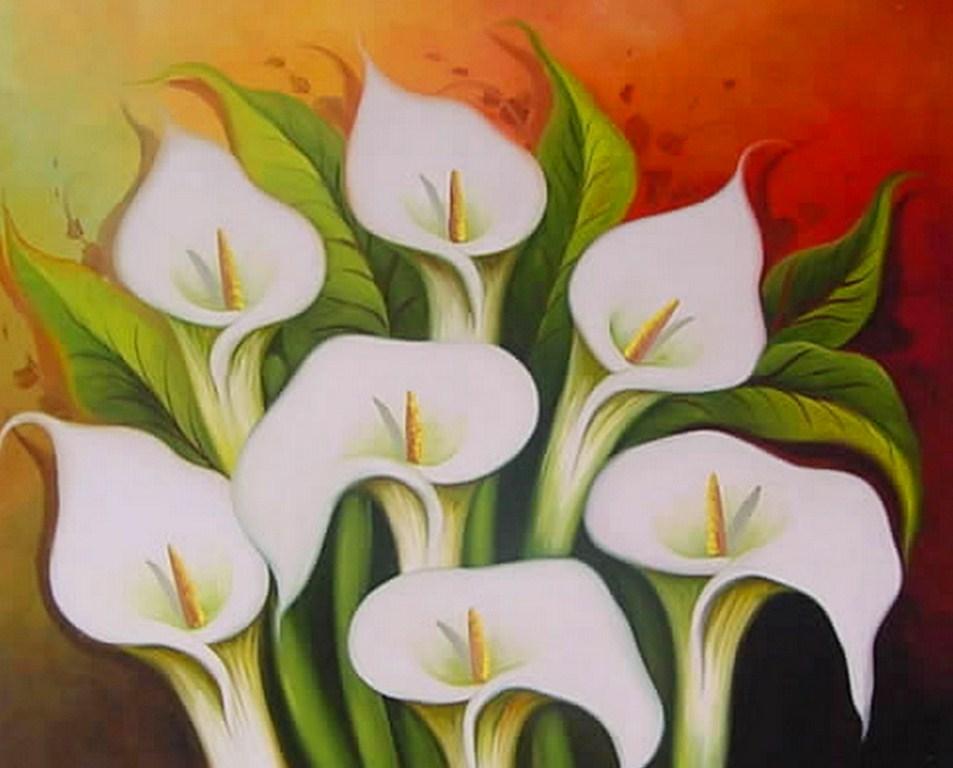 Cuadros modernos pinturas y dibujos bodegones de flores for Imagenes cuadros modernos