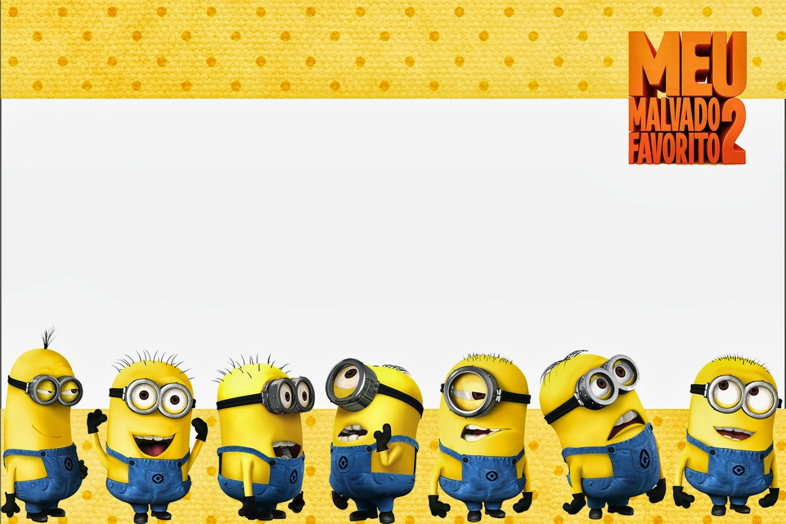 Despicable me 2 free printable invitations and candy bar labels is