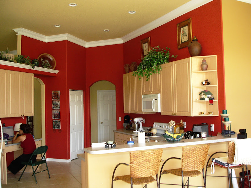 Kitchen Paint Color Ideas with Accent Wall