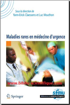 Livre : Maladies rares en médecine d'urgence - Springer