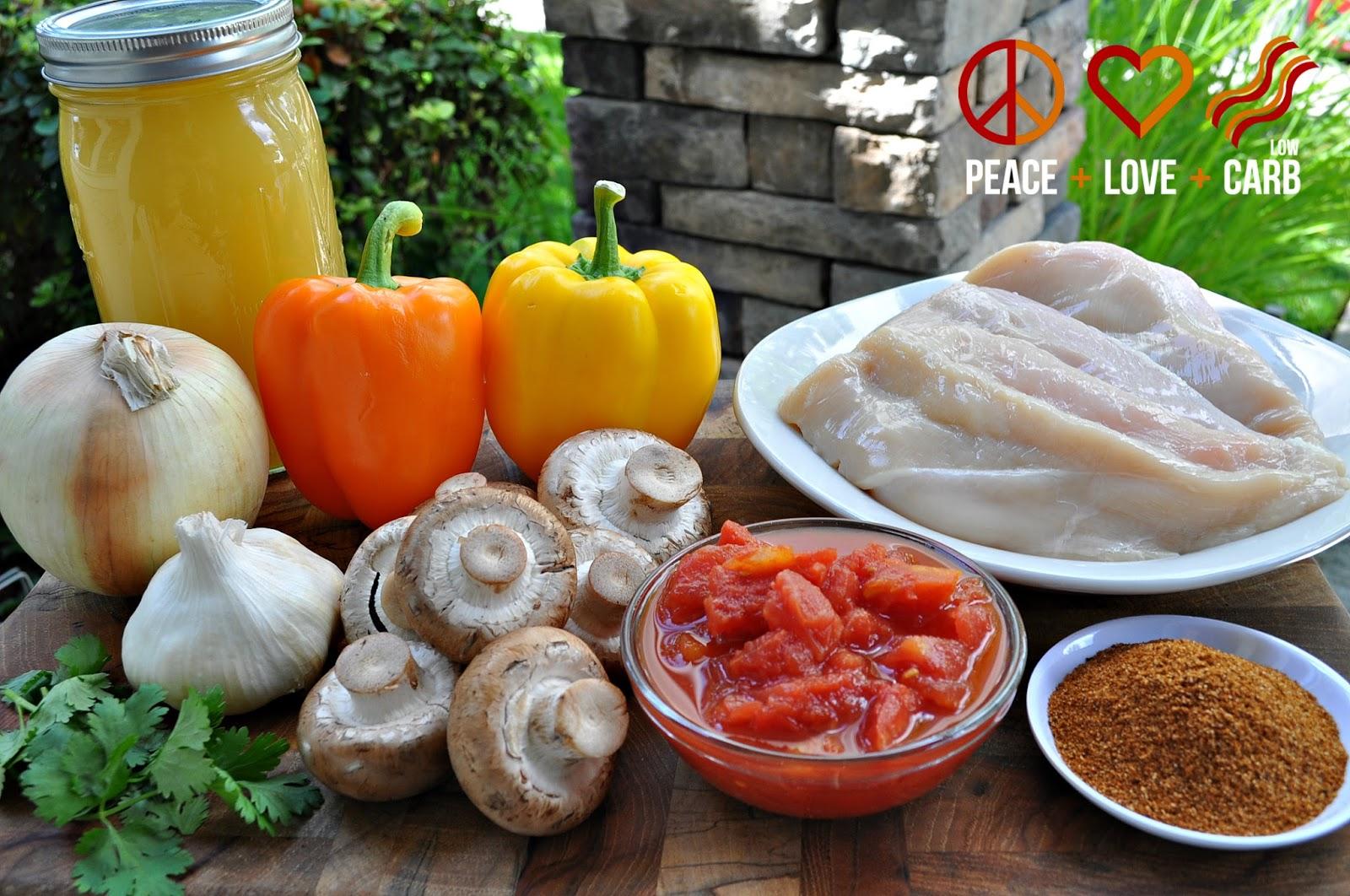 Chicken Fajita Soup - Low Carb, Paleo, Gluten Free