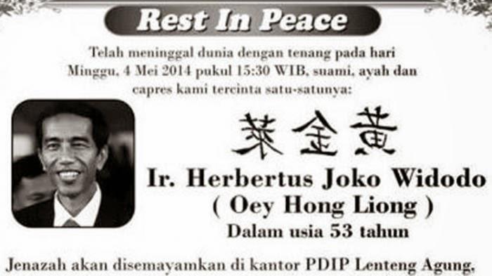 PDIP Laporkan Pembuat Foto 'RIP Jokowi' ke polisi