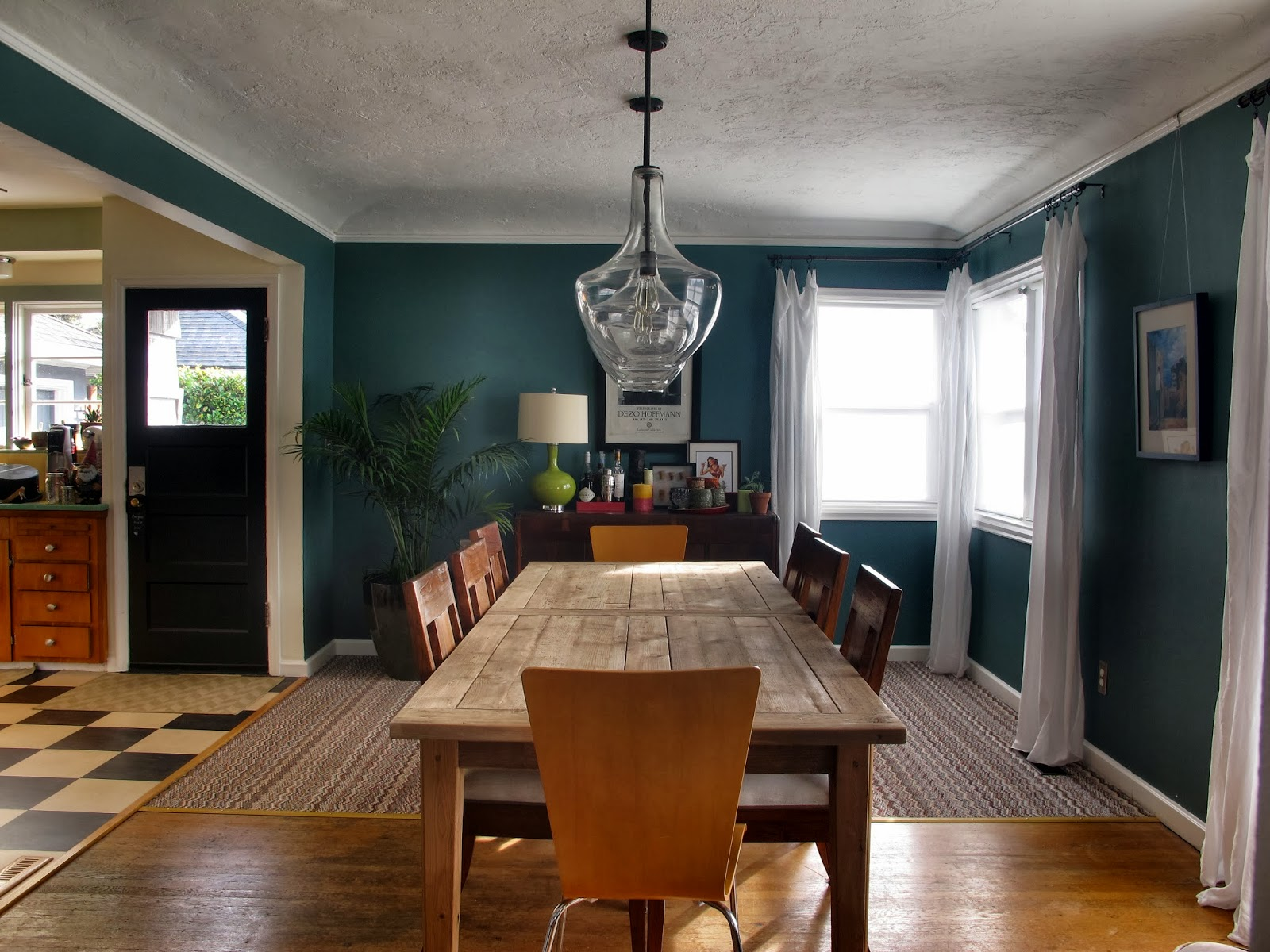 Just a girl with a hammer and then i painted everything for Dining room ideas teal