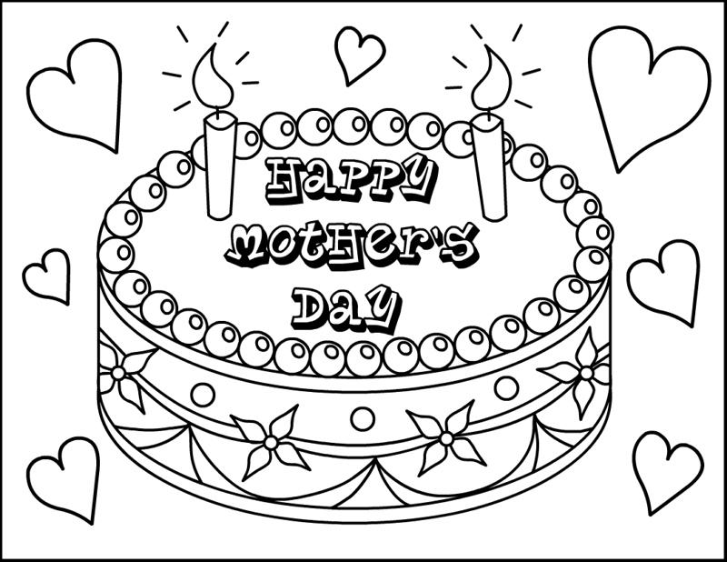 MOTHER'S DAY coloring pages Happy Mother's Day - happy mothers day coloring page