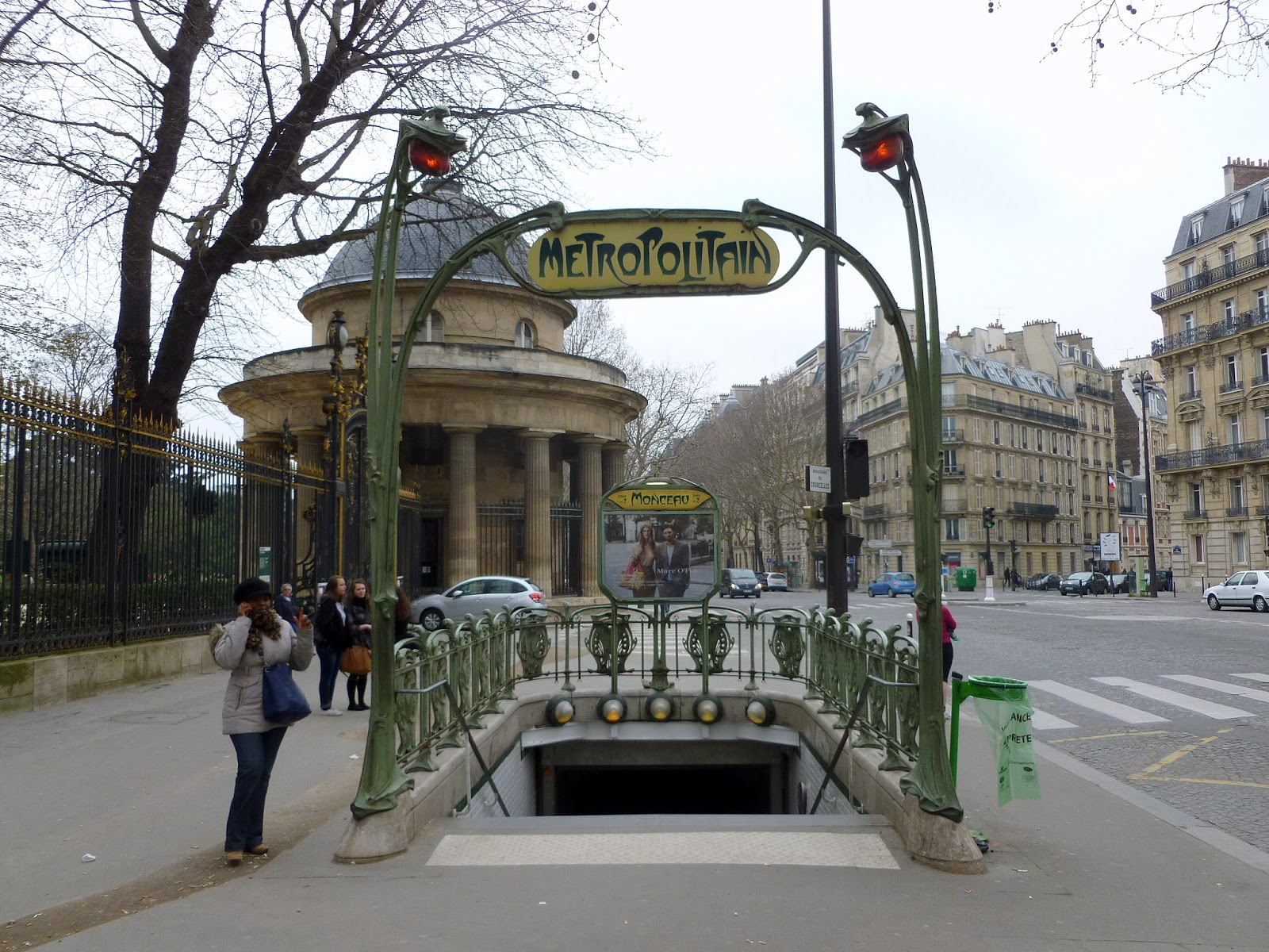 Photo-ops: Art Nouveau: Monceau Metro Station - Paris, France