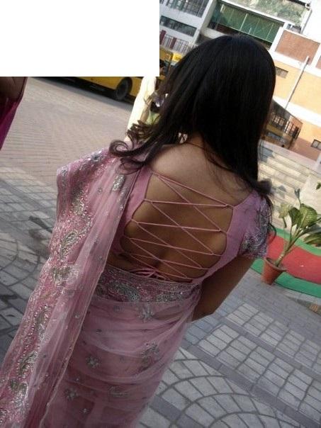 string blouse sexy saree