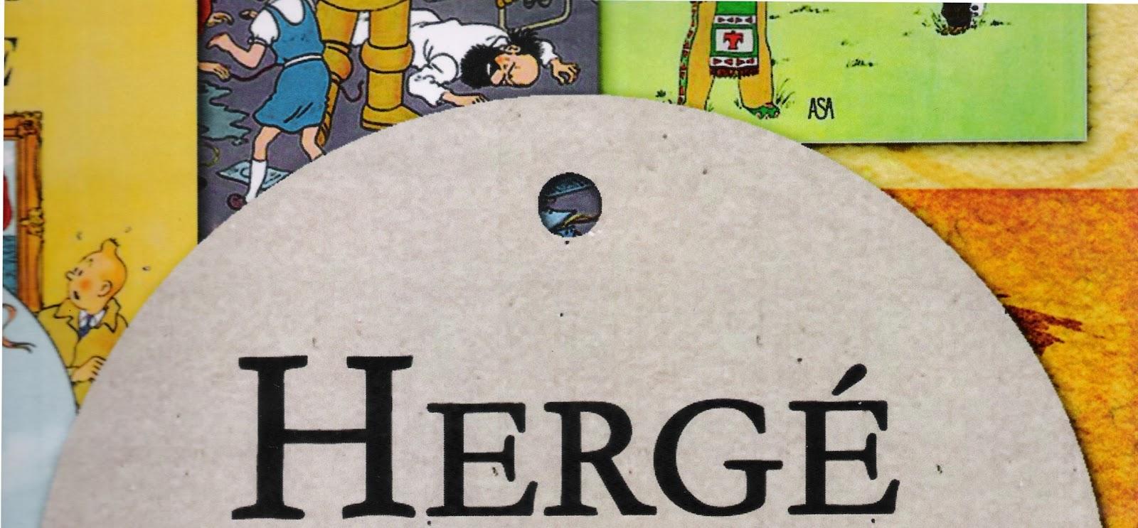 Banner Exposição Hergé. Arte: Montserrat