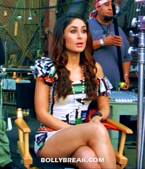 Kareena Kapoor Thighs Show - Sitting Cross Legged -  Kareena Kapoor Thighs Show - Sitting Cross Legged