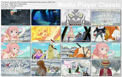 Download Film One Piece Episode 553 (Tangisan Shirahoshi! Kemunculan Luffy!) Bahasa Indonesia