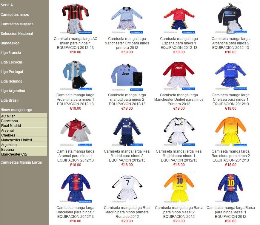 Todo sobre la nuevas camisetas de f tbol 2012 12 09 - Donde comprar por internet ...