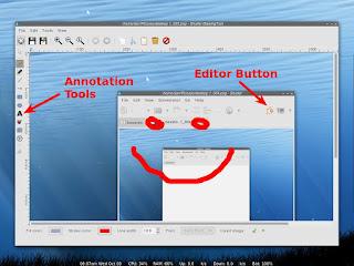Shutter editor window