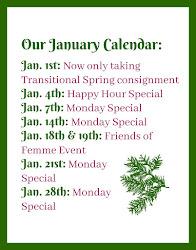 Our January Calendar: