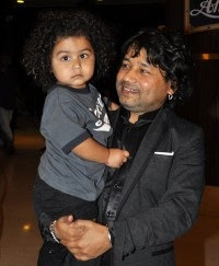 Kailash Kher with his son
